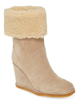 Jeffrey Campbell faux shearling wedge boot
