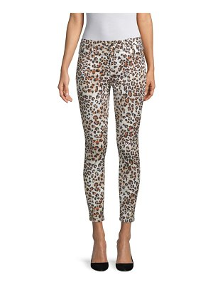 Jen7 animal-print cropped skinny jeans