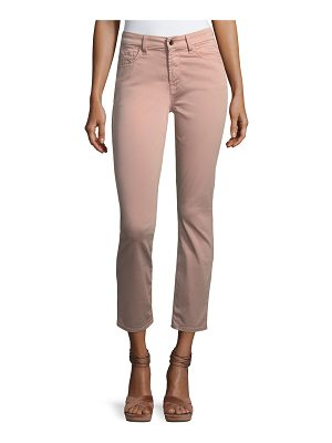 JEN7 Brushed Sateen Skinny Ankle Jeans