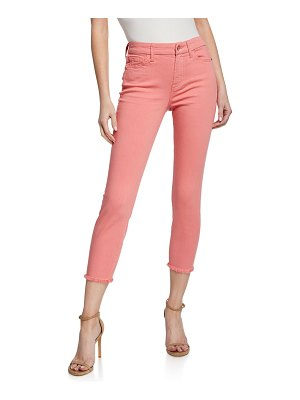 Jen7 Cropped Skinny Jeans with Frayed Hem