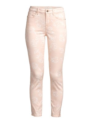 Jen7 printed ankle skinny cropped jeans