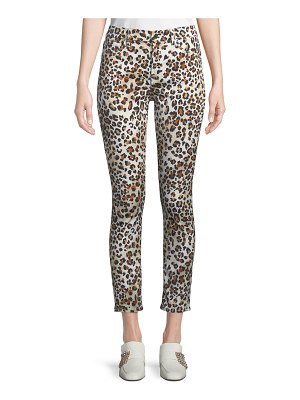 Jen7 Sunkissed Animal-Print Ankle Skinny Jeans