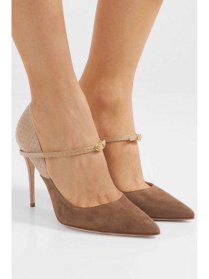 Jennifer Chamandi lorenzo 105 suede and elaphe pumps