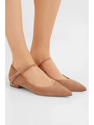 Jennifer Chamandi lorenzo suede point-toe flats