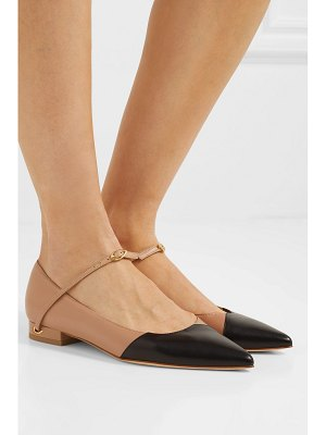 Jennifer Chamandi lorenzo two-tone leather point-toe flats