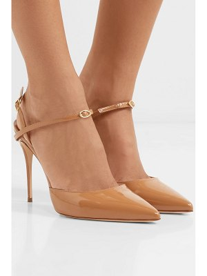 Jennifer Chamandi vittorio patent-leather slingback pumps