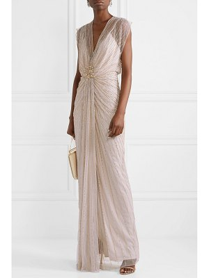 Jenny Packham amelie draped embellished tulle gown