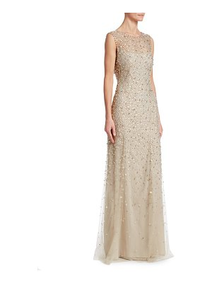 Jenny Packham beaded tulle illusion gown