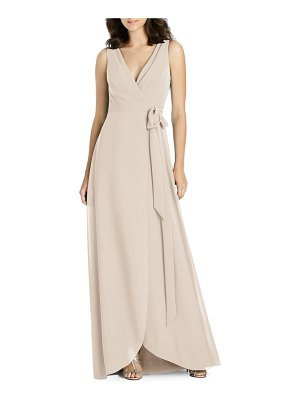 Jenny Packham chiffon wrap evening dress