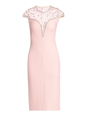 Jenny Packham embellished illusion-top cocktail dress