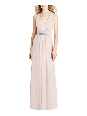 Jenny Packham jewel belt chiffon gown