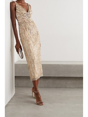 Jenny Packham meredith embellished tulle midi dress