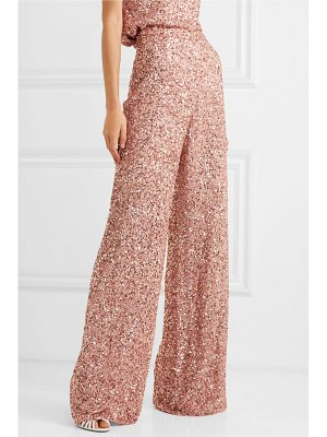 Jenny Packham sequined chiffon wide-leg pants