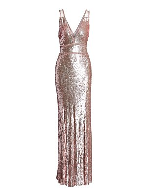 Jenny Packham v-neck sleeveless beaded gown