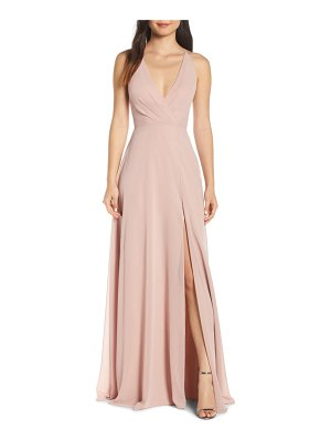 Jenny Yoo bryce surplice v-neck chiffon evening dress
