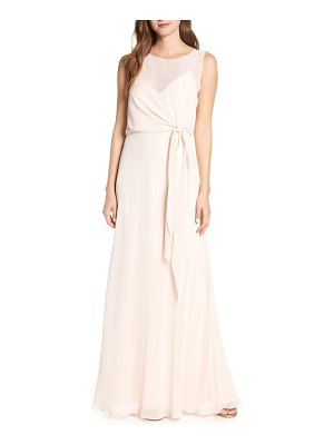 Jenny Yoo chiffon overlay evening dress