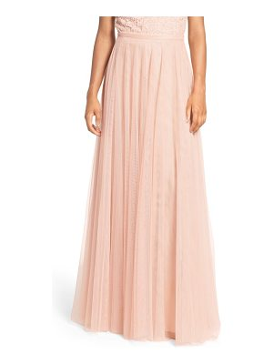 JENNY YOO 'Winslow' Long Tulle A-Line Skirt
