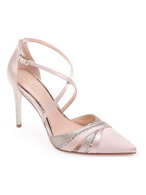 JEWEL BADGLEY MISCHKA embellished cross strap sandal