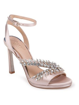 JEWEL BADGLEY MISCHKA kaira crystal embellished ankle strap sandal