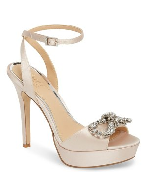 JEWEL BADGLEY MISCHKA mildred crystal bow platform sandal