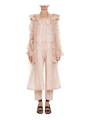 JIL SANDER Below-The-Knee Anorak Jacket With Drawstrings