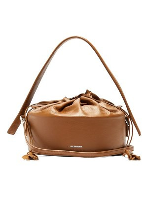 Jil Sander drum drawstring leather bucket bag