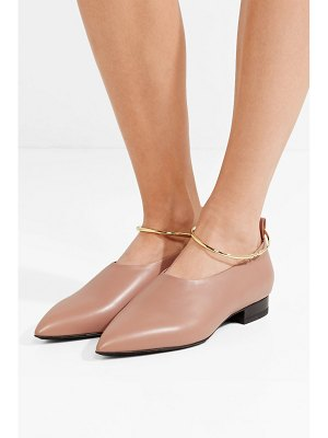 Jil Sander embellished leather point-toe flats