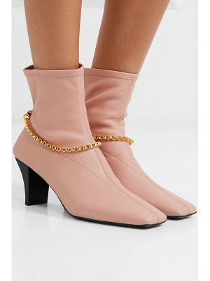 Jil Sander embellished leather sock boots