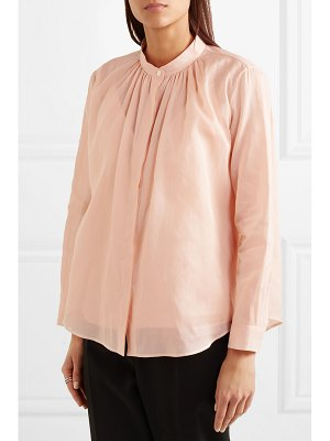 Jil Sander gathered cotton-organza shirt