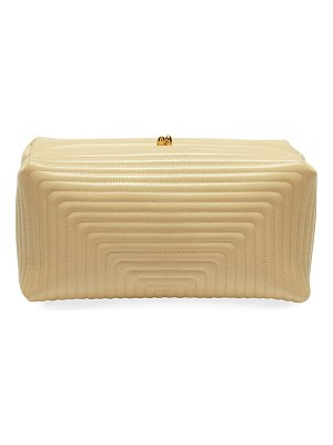 Jil Sander Goji Soft Quilted Leather Clutch Bag