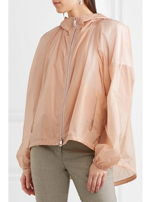 Jil Sander hooded rubberized pu jacket