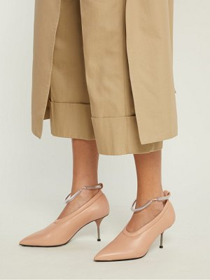 Jil Sander Leather Bracelet Strap Pumps