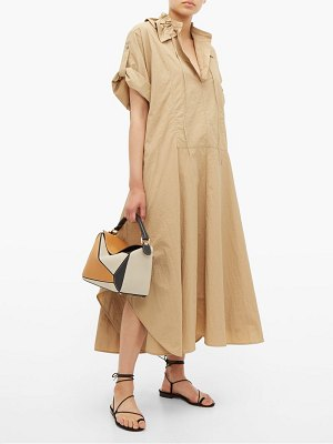 Jil Sander drawstring collar poplin shirtdress