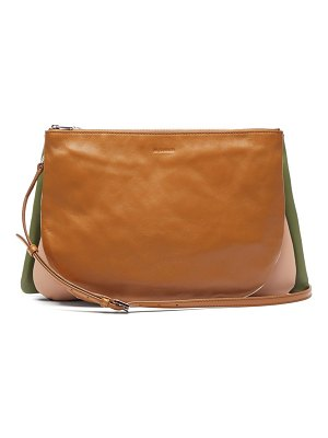 Jil Sander sandwich leather cross body bag