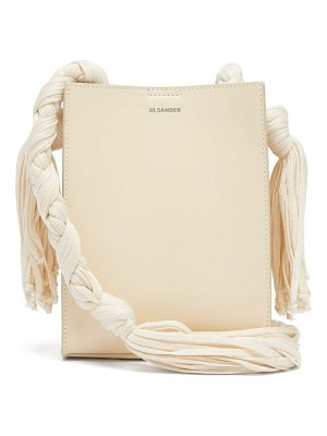 Jil Sander tangle small knotted strap leather bag