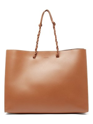 Jil Sander tangle medium woven handle leather tote