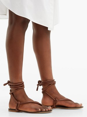 Jil Sander wraparound ankle strap leather sandals
