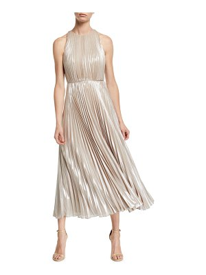 Jill Jill Stuart Ashley Metallic Pleated Gown