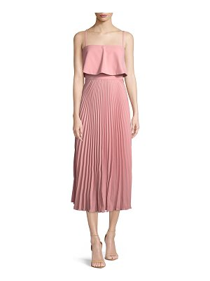 JILL JILL STUART Nicole Popover Pleated Midi Cocktail Dress