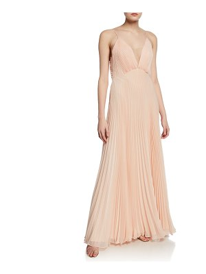 Jill Jill Stuart Veronika Pleated Sleeveless Gown