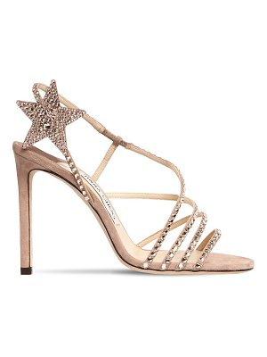 Jimmy Choo 100mm crystals suede sandals