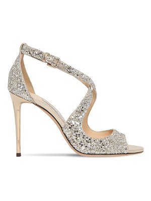 Jimmy Choo 100mm emily glittered sandals