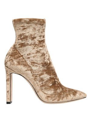 Jimmy Choo 100mm louella stretch velvet boots