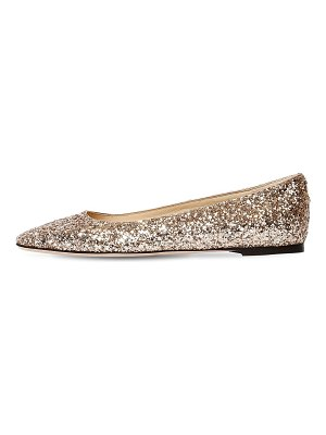 Jimmy Choo 10mm mirele glittered flats
