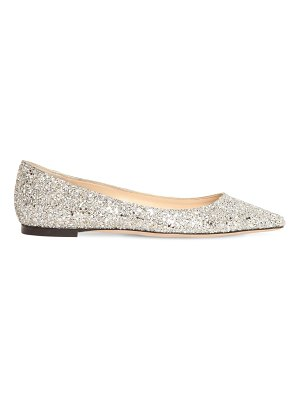 Jimmy Choo 10mm romy glittered leather flats