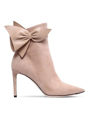 Jimmy Choo 85mm cassidy bow suede ankle boots