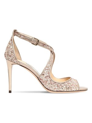 Jimmy Choo 85mm emily glittered sandals