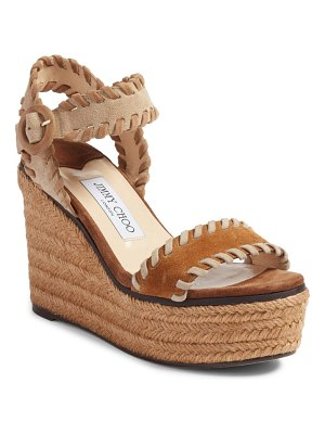 Jimmy Choo abigail whipstitch wedge