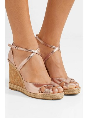 Jimmy Choo alanah 105 metallic leather espadrille wedge sandals
