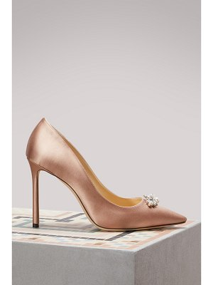 Jimmy Choo Alexa 100 satin pumps